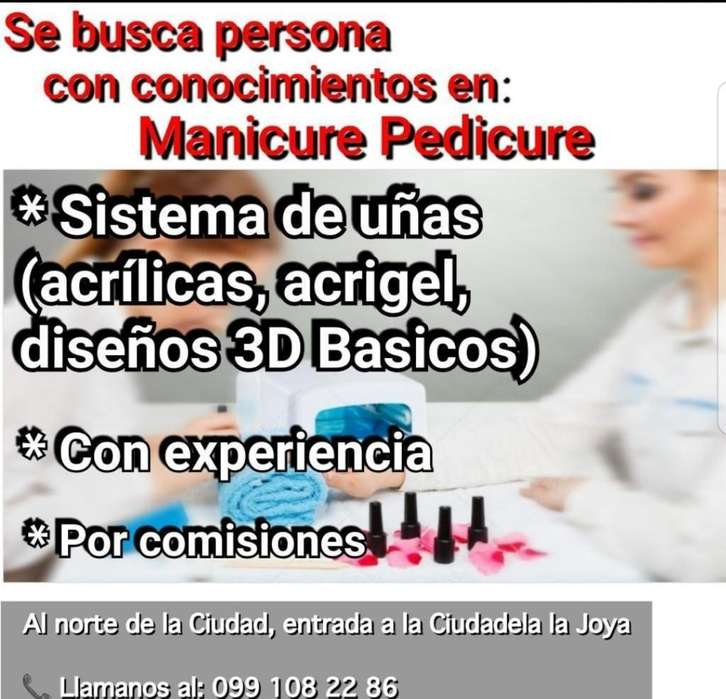 Busco Manicurista Pedicurista Tecnica en Uñas