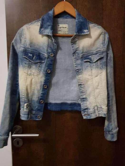 Campera de <strong>jeans</strong> Elastizada