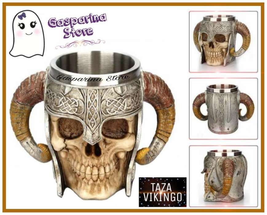 Taza Calavera Vikingo