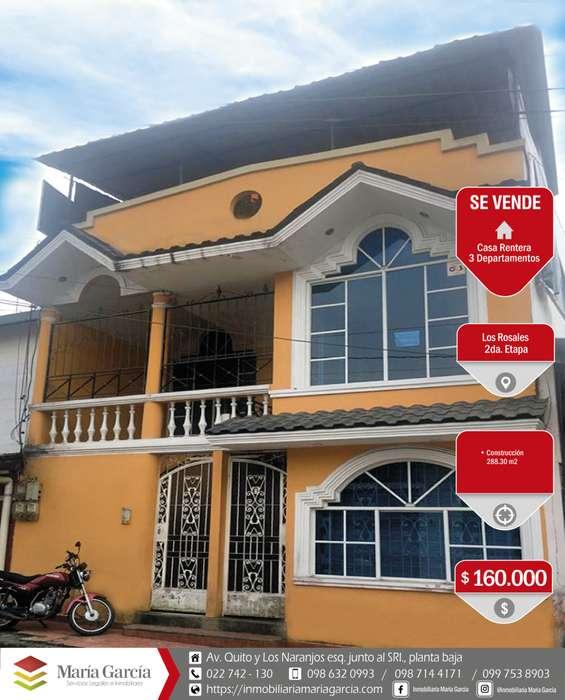 Casa rentera de venta en Los Rosales 2da etapa