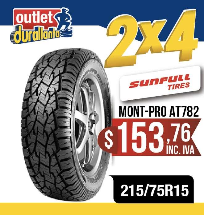 LLANTAS 215/75R15 SUNFULL MONTPRO AT782 BT50 WINGLEDEER SAILOR