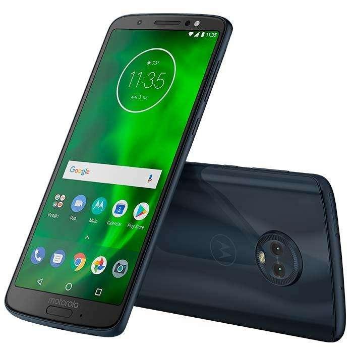 Vendo celular Moto G6 LTE Azul Índigo, doble sim, 32 GB, 6 meses de uso.
