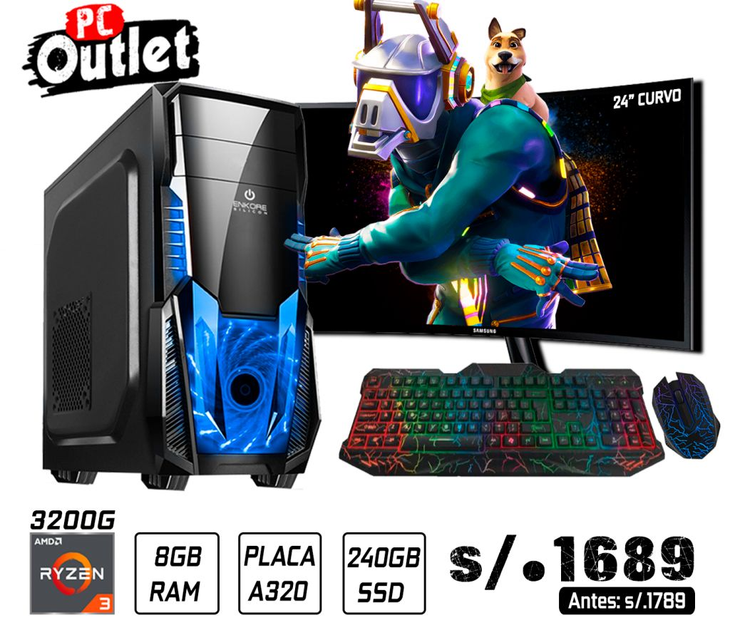 PC GAMING RYZEN 3 3200G 3.6GHz 1689