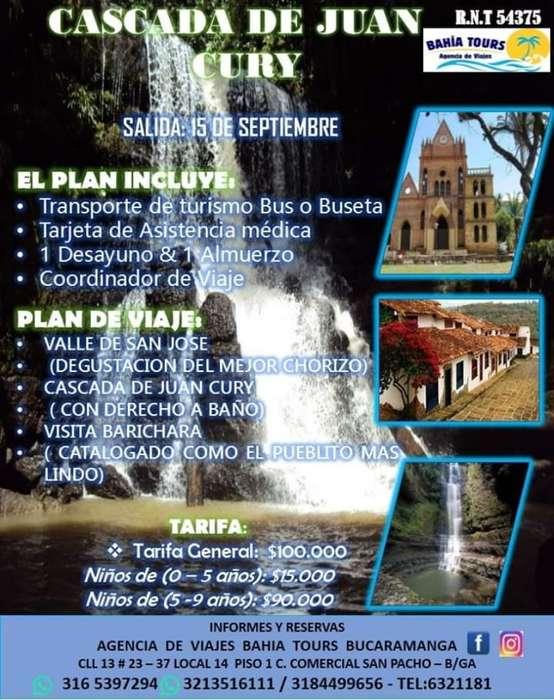 Tour Cascadas de Juan Cury 15 Septiembre