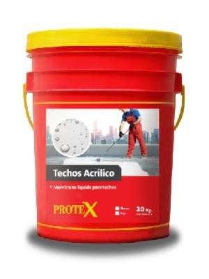TECHOS ACRÍLICO Blanco/Rojo Balde 20 kg - Membrana líquida acrílica para techos