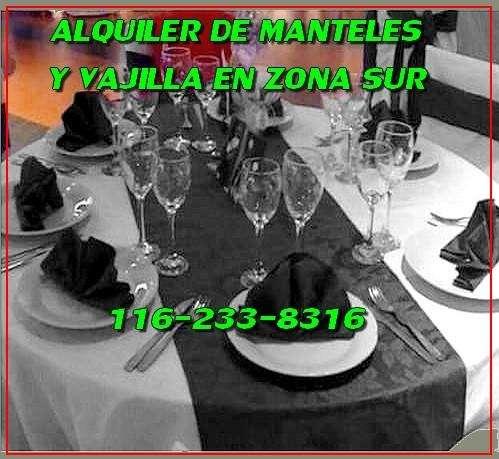 ALQUILER DE VAJILLA MANTELERÍA, DJ, FOTO, VIDEO, PANT GIG EN WILDE QUILMES BERAZATEGUI 1562338316