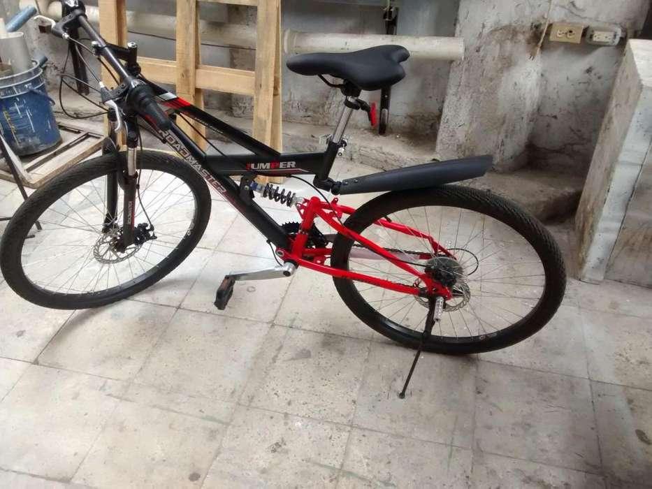 Bicicleta doble suspensión rin 26