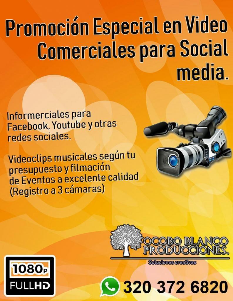 VIDEOS PARA SOCIAL MEDA Y VIDEOCLIP MUSICAL