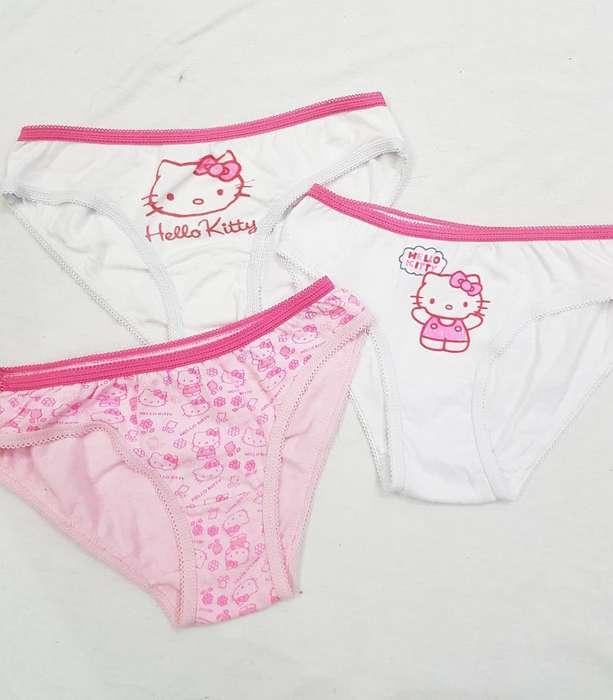Bombachas Hello Kitty Nueva X3