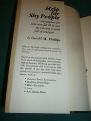 HELP FOR SHY PEOPLE . GERALD PHILLIPS . AYUDA PARA TIMIDOS . LIBRO EN INGLES