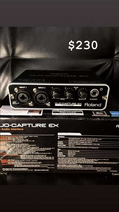 Interfaz de Audio Roland Duo Capture Ex