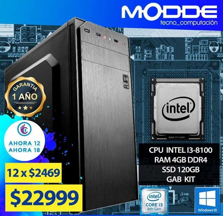 COMPUTADORA INTEL I3-8100 // MODDE TECNO