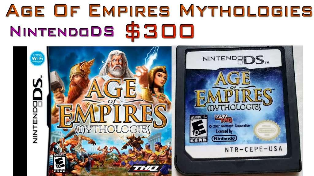 Age of Empire Mythologies juegos Nintendo DS en Perfecto Estado, sirve para 3DS. Como nuevos!