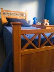 Juego de Dormitorio 1 Plaza Cerezo