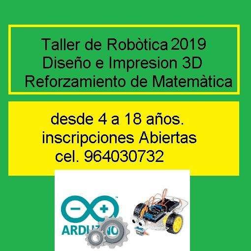 CURSO TALLER ROBÒTICA Y REFORZAMIENTO MATEMÁTICO