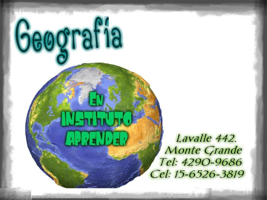 Apoyo escolar de Geografia en Monte Grande