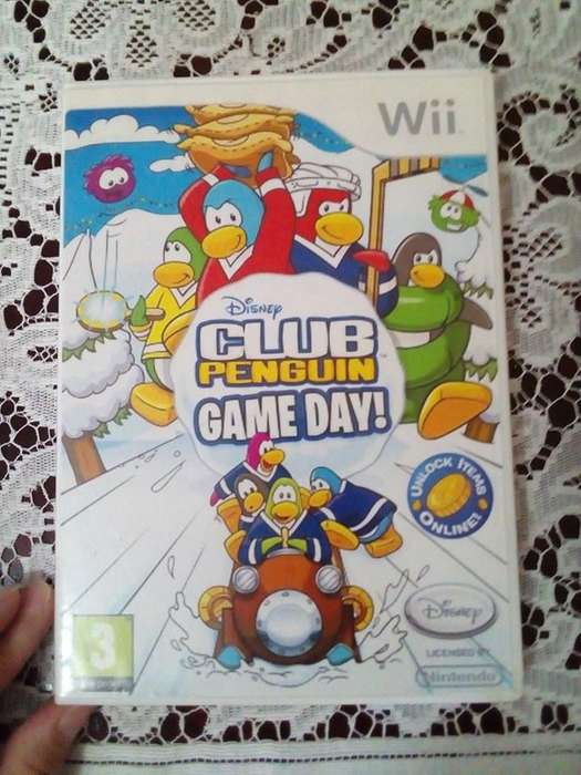 CLUB PENGUIN GAME DAY WII NTSC INSERT COIN