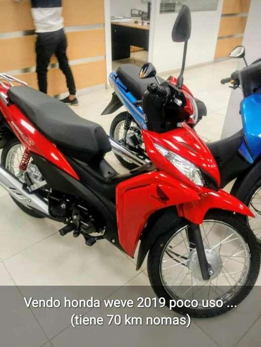 Honda Wave 2019 con Solo 70 Km