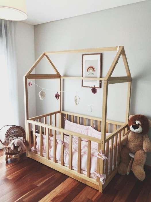 Cuna casita Montessori madera guatamb