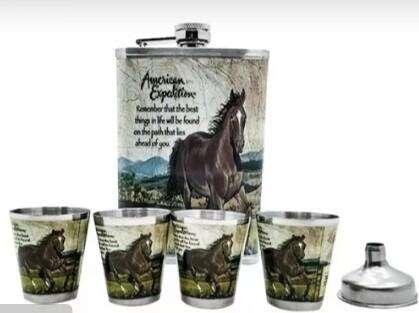 kit wiskera 4 copas diseño caballos