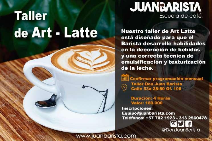 TALLER DE ART LATTE CLASES DE ART LATTE