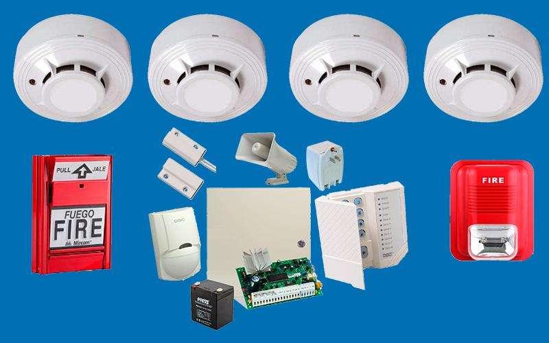 Venta e Instalacion de sistemas de alarmas contraincendio, sensores de humo, luz estroboscopica, permiso de bomberos