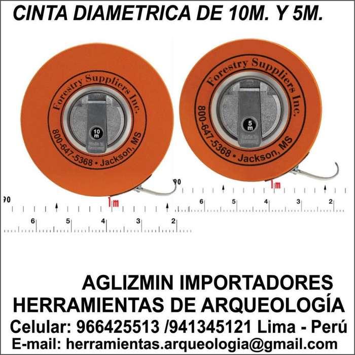 Cinta Diamétrica fabricación Alemana 10m. 5m Con Gancho . Medida espesor de Árboles