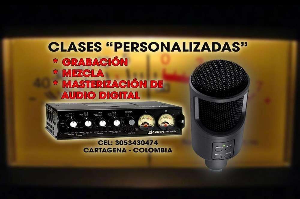 CLASES PERSONALIZADAS DE GRABACION, MEZCLA Y MASTERIZACION DE AUDIO DIGITAL