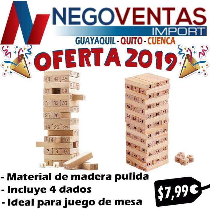 JUEGA Y DIVIERTE JENGA DE OFERTA