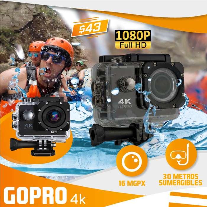 GOPRO CAMARA 1080P - 4K 30FPS ACCESORIOS