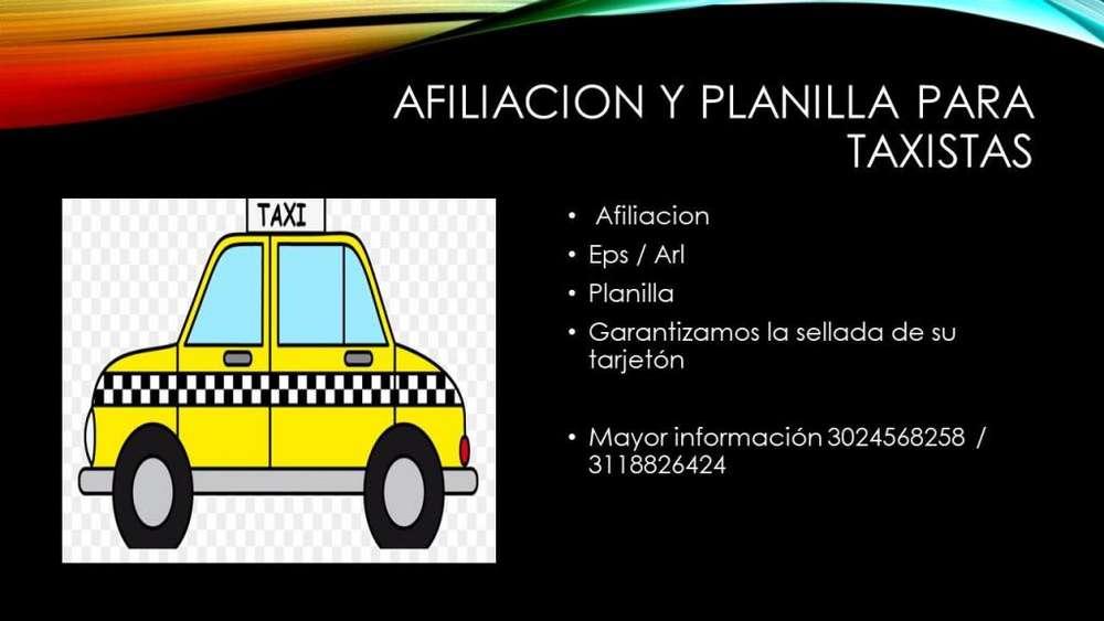 Afiliacion para taxistas