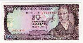 Se vende antiguo billete de 50 pesos