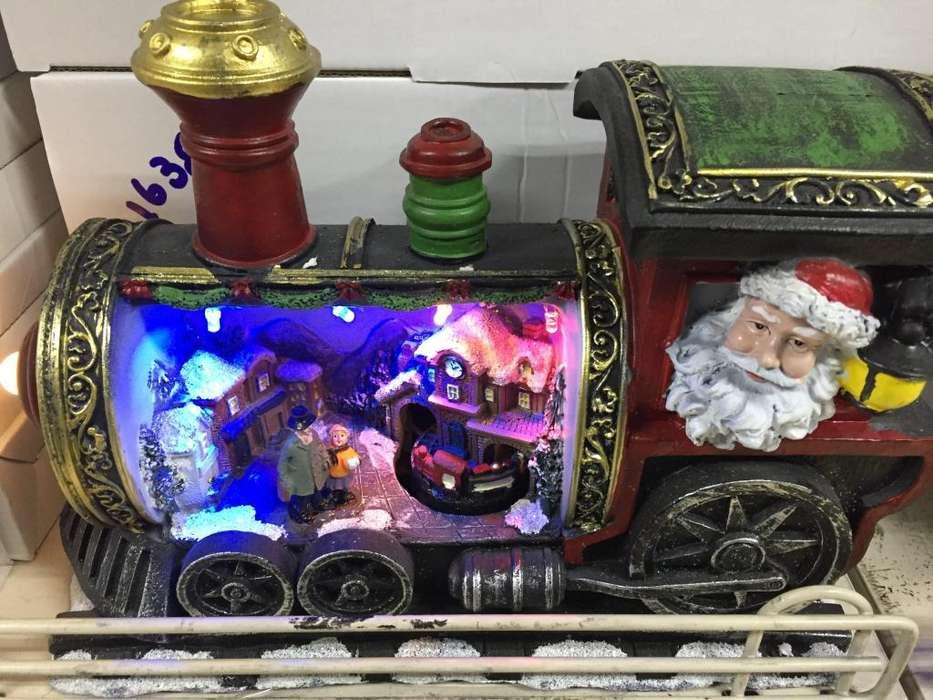 Adorno Navidad modelo tren luz led pilas entregas a domicilio