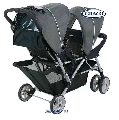 Coche Bebe Doble Para Hermanos Graco Ready2grow Glacier