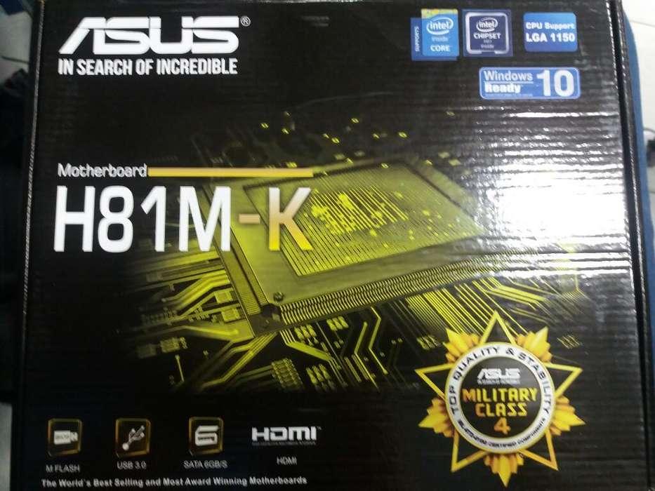 Board H81 Asus 4 Generacion, Nueva