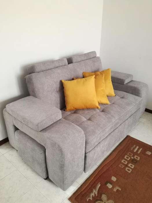 Sofa Cama Y 2 Sillas Poltronas
