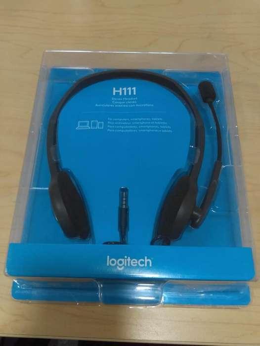 Audifono con Microfono LOGITECH Alambrica H111 (NUEVA)
