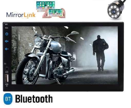 RADIO PARA CARRO CON MIRROR LINK USB NUEVO 7 PULGADAS BLUETOOTH