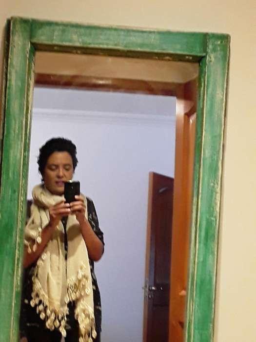 Espejo de Madera Rústico Color Verdes Pa