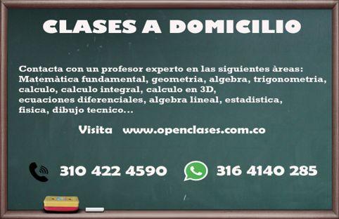 CLASES DE MATEMÁTICAS, CALCULO, FÍSICA A DOMICILIO