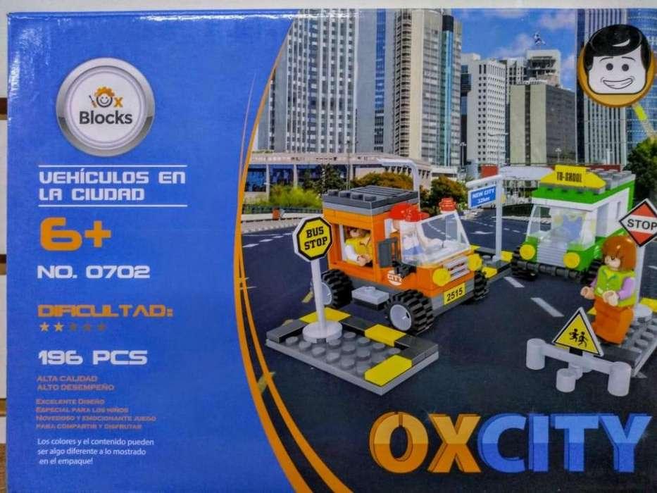 lego didactico vehiculos 196 piezas