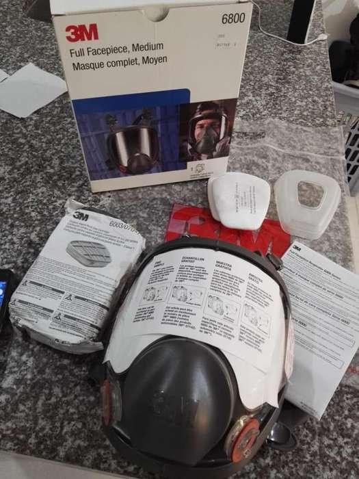 Respirador 3m con Par de Cartuchos Dispo