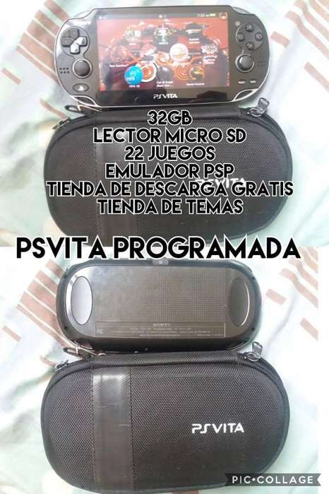 psvita programada con 32gb 22 juegos venta cambios.