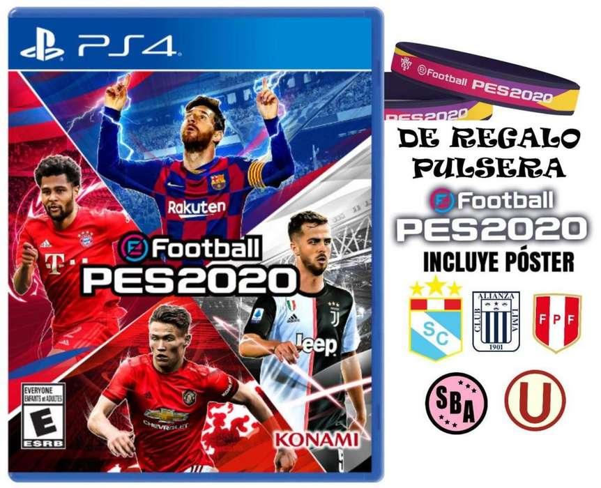 PES 2020 Nuevo y Sellado Poster y Pulsera GRATIS PS4