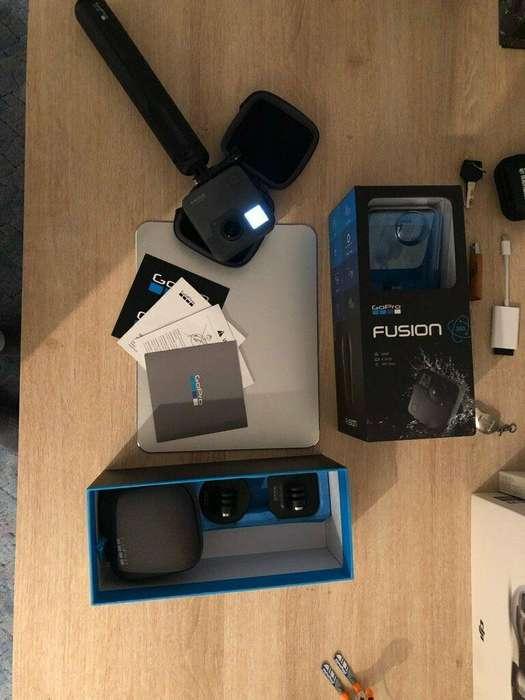 Videocamera Gopro Fusion 360 - Como nueva EXTRAS