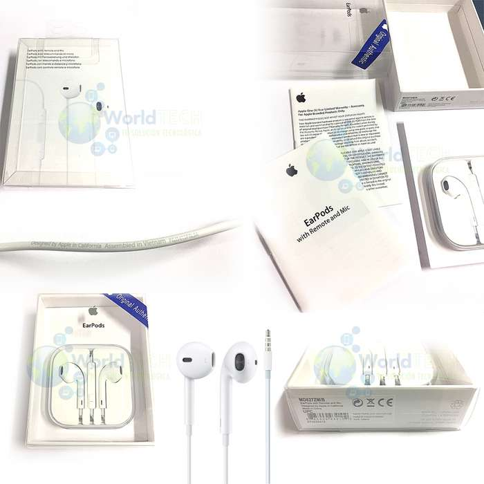Audífonos Earpod Iphone 4 4s 5 5s Se 6 6s 6 Plus Originales