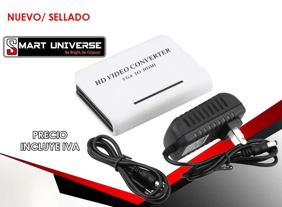 Convertidor Vga A Hdmi Blanco 1080p Audio vga a hdmi