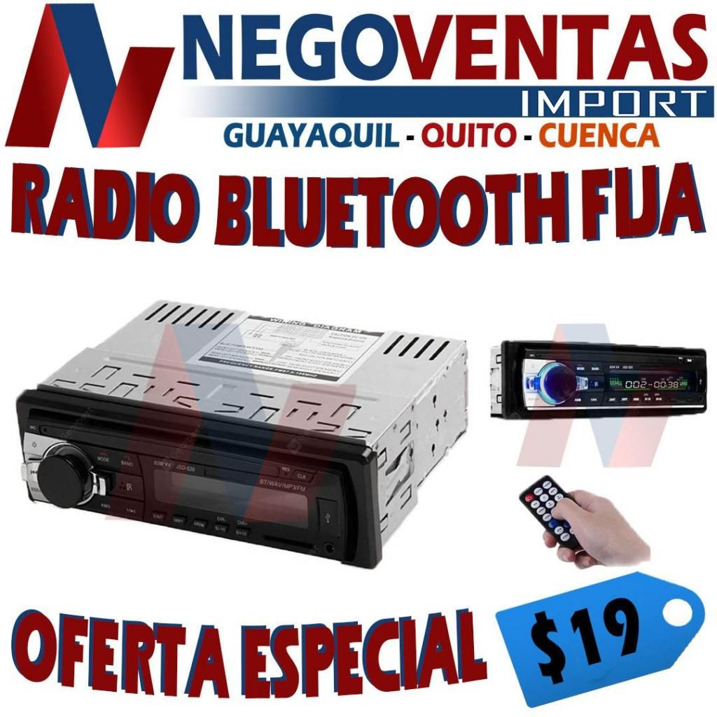 RADIO ECONOMICA CON BLUETOOTH USB SD RADIO Y AUX