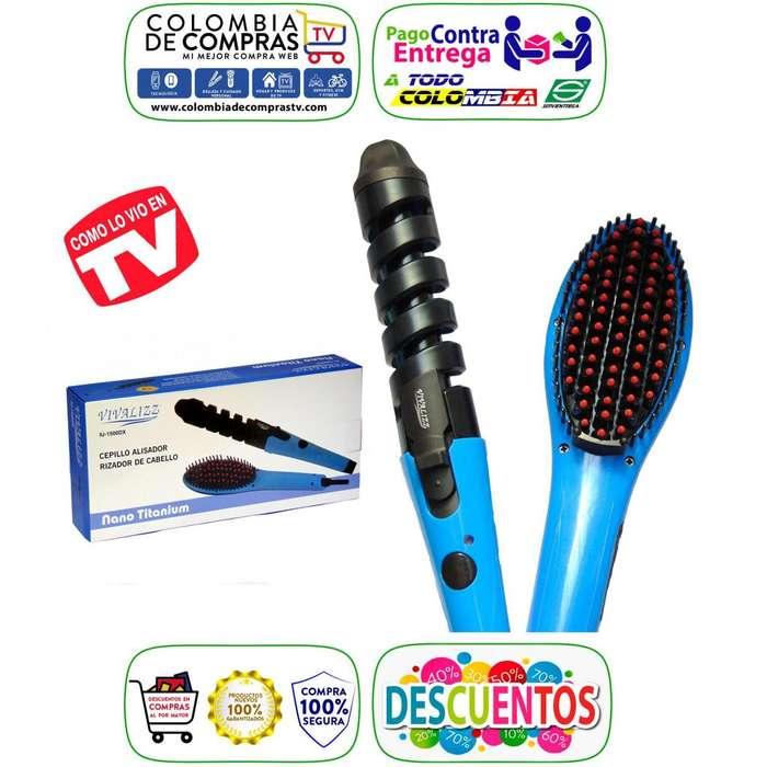 Combo Tv Cepillo Alisador Digital 450ºf Rizador Curl Nuevos, Originales, Garantizados.