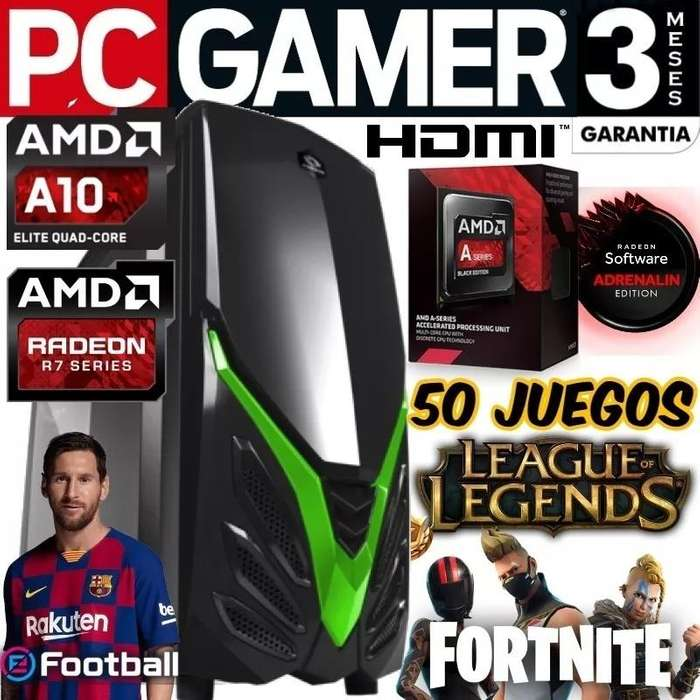 Pc Gamer Amd A10 7700k Raidmax Viper Ii Fortnite Y 50 Juegos